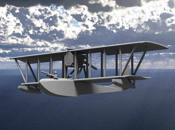 Donnet-Denhaut D.D.8 Flying Boat (Two-Seater) 3d printed Computer render of 1:144 DD8