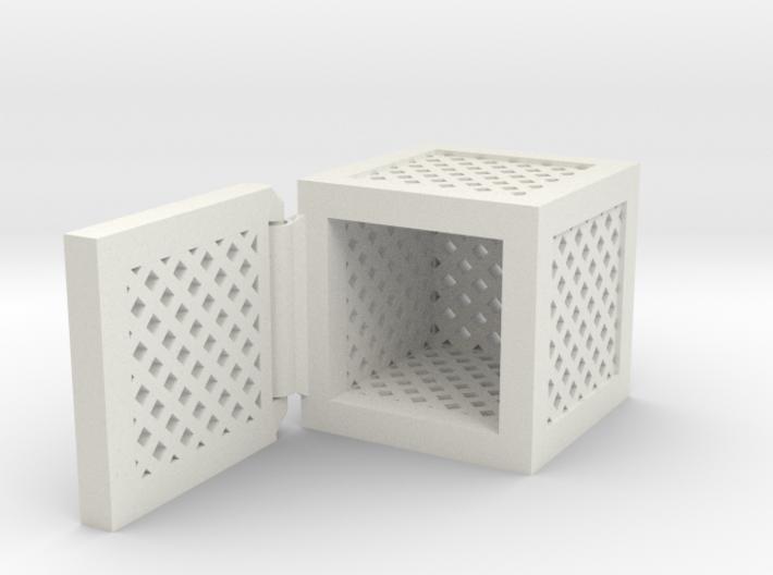 Hinged Box (Square) 3d printed