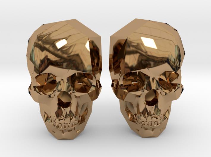 Cufflink Skull 3d printed