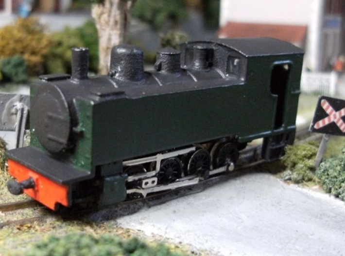 Locomotive Corpet-Louvet 0-4-0T Nm 1:160 3d printed completed model on owners layout.