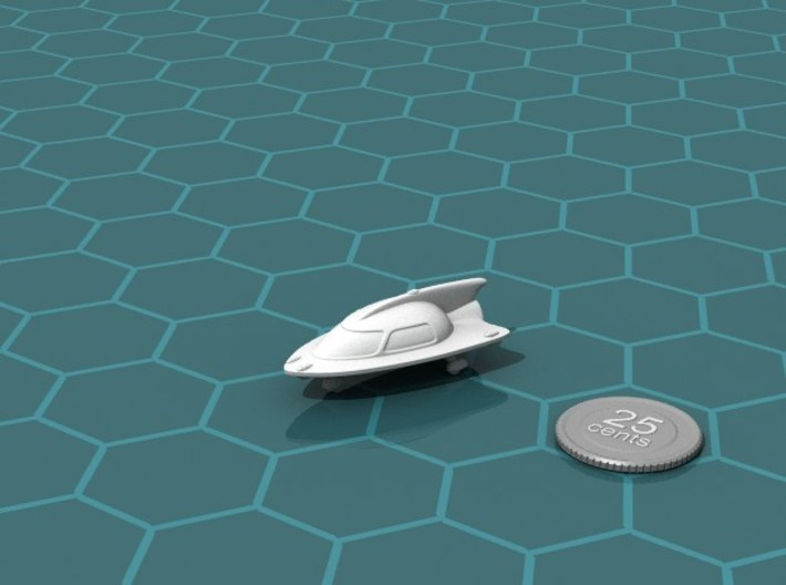Space Car 2 3d printed Render of the model, with a virtual quarter for scale.