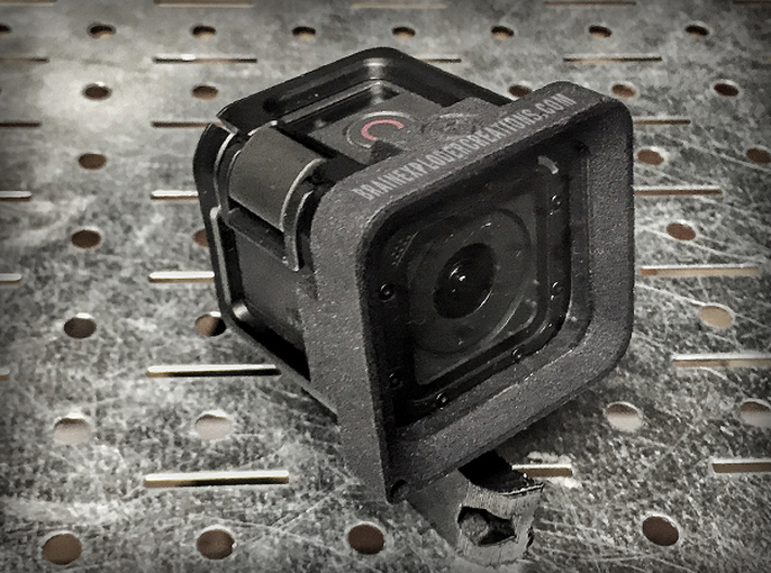 Lens Protector for GoPro HERO 4/5 Session Cameras 3d printed Shown with user added Lexan shield