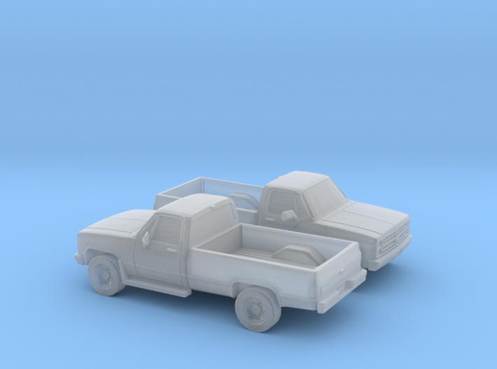 1/160 2X 1982 Chevy Silverado C/K Reg. Cab 3d printed