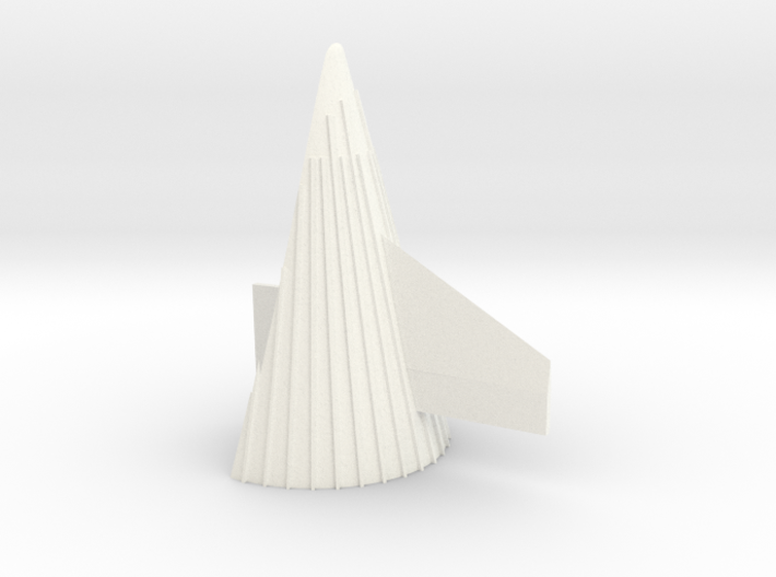 1/100 Sat V 1st Stage fairing-correct scale 3d printed
