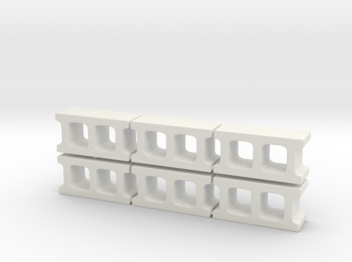 1:12 Cinder blocks set of 6 for diorama 3d printed