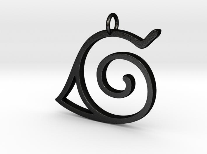 Konoha Pendant 3d printed