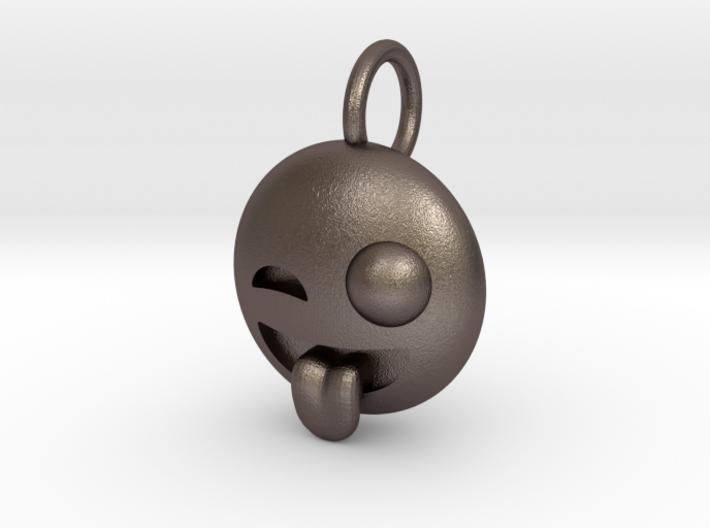 Dime Sized Emoji Big Eye Tongue Sticking Out 3d printed