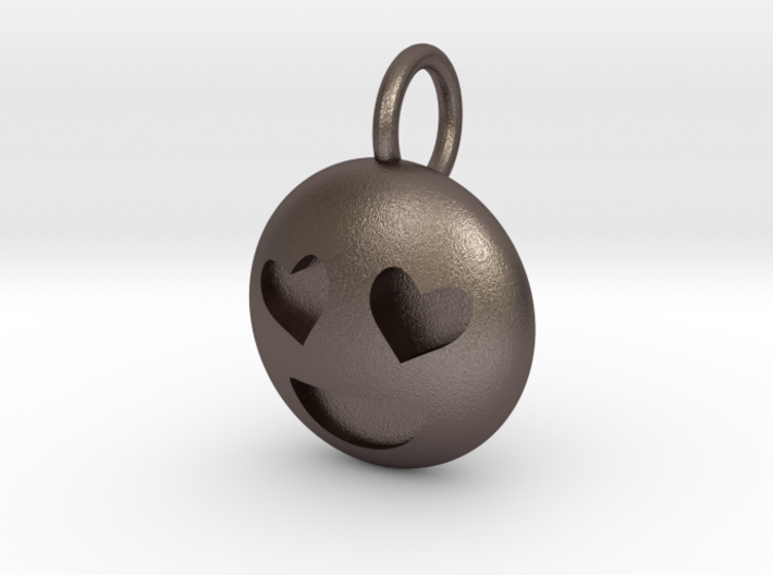 Dime Sized Emoji Heart Eyes 3d printed