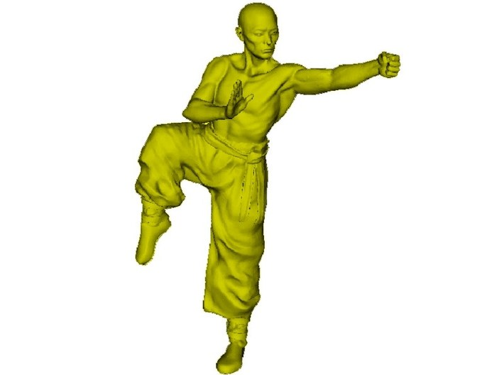 1/15 scale Shaolin Kung Fu monk figure A 3d printed