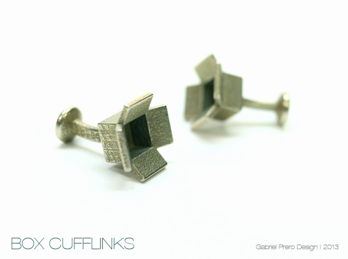 Box Cufflinks 3d printed
