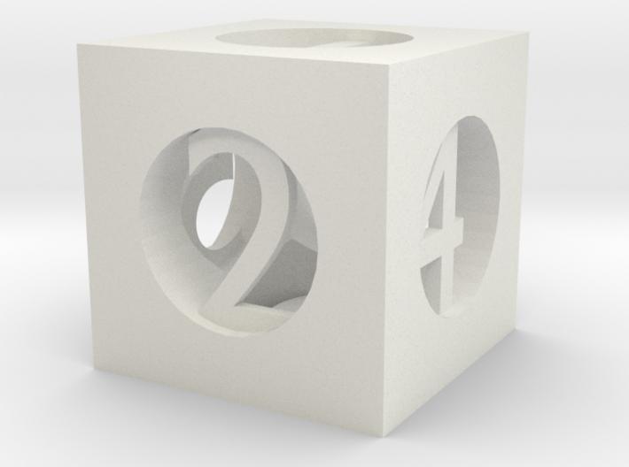 Hollow D6 (Custom) 3d printed
