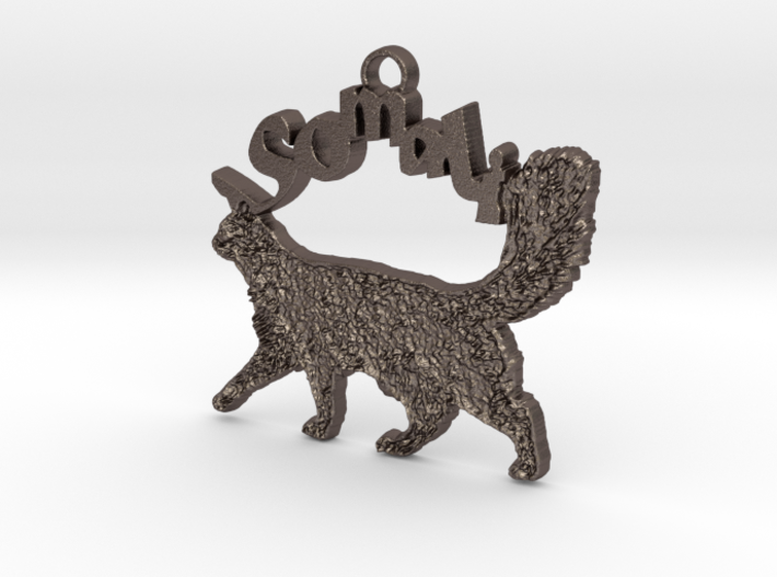 Somali Cat Breed Pendant 3d printed
