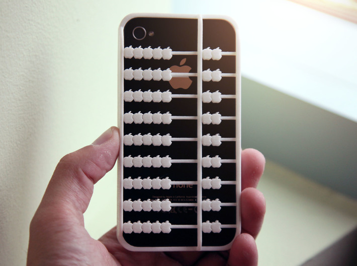 Abacus iPhone 4 / 4s Case 3d printed