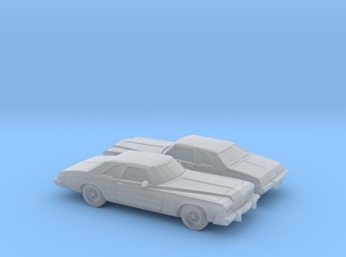 1/160 2X 1974 Buick Riviera 3d printed