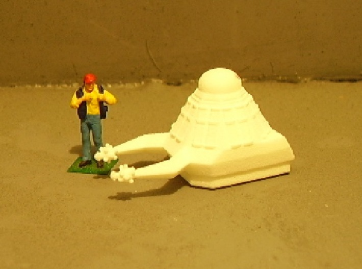 1/87 Scale Death Probe 3d printed Next too stock HO figure. Unpainted.