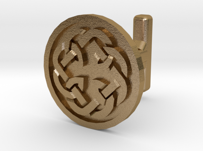 Fatherhood Celtic cufflinks 3d printed