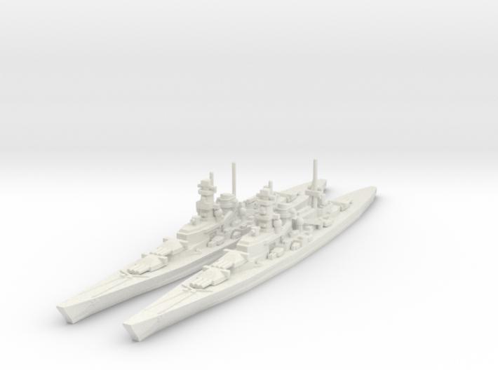 Scharnhorst and Gneisenau 1/2400 3d printed