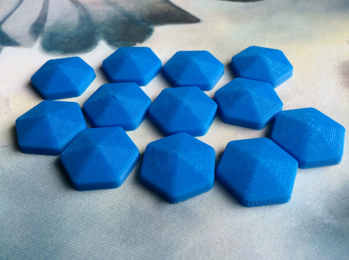 Mana Crystals (batch of 5) 3d printed Printed in blue PLA