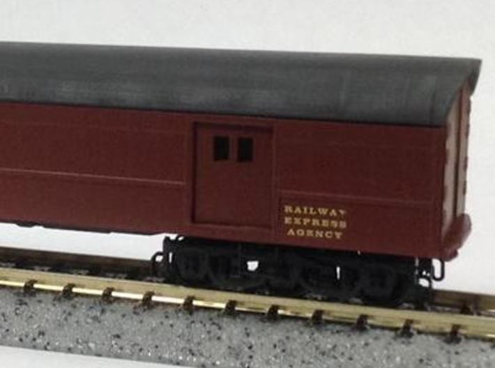 N Scale PRR B74b Roof and Door Kit for MT Horse Ca 3d printed Converted model without decals