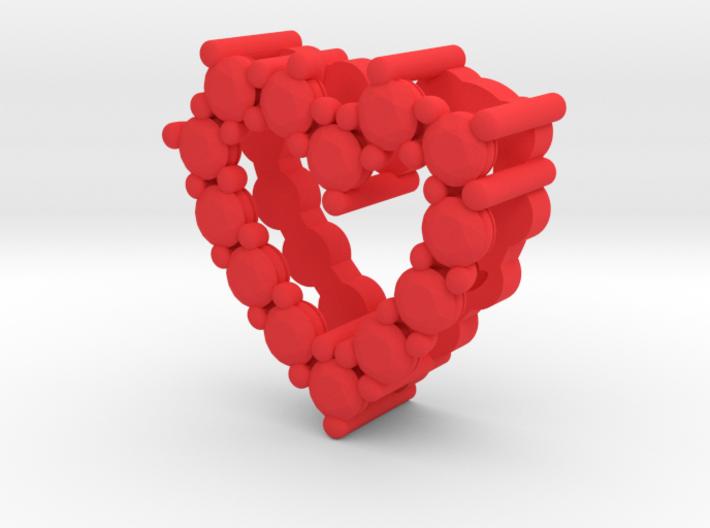 "Pendentif Heart, small ""diamonds"" 3d printed"