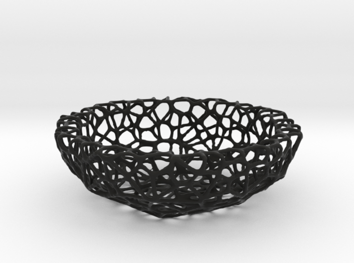Mini Key shell / bowl (9 cm) - Voronoi-Style #4 3d printed