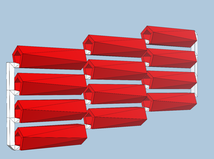 12 red-axis bobs 3d printed