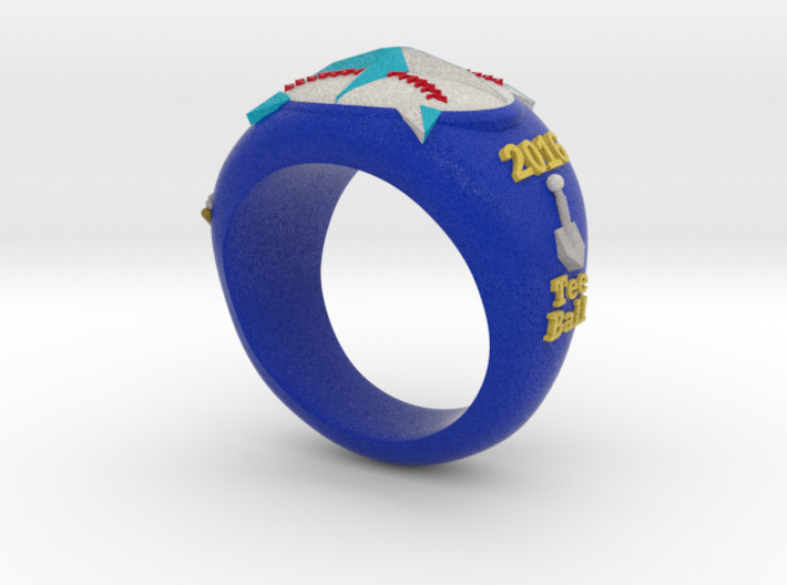 Mariners T-Ball Ring Size 4.5 3d printed
