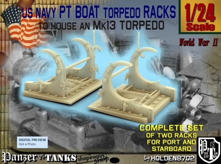1-24 PT Torpedo Rack TypD 3d printed