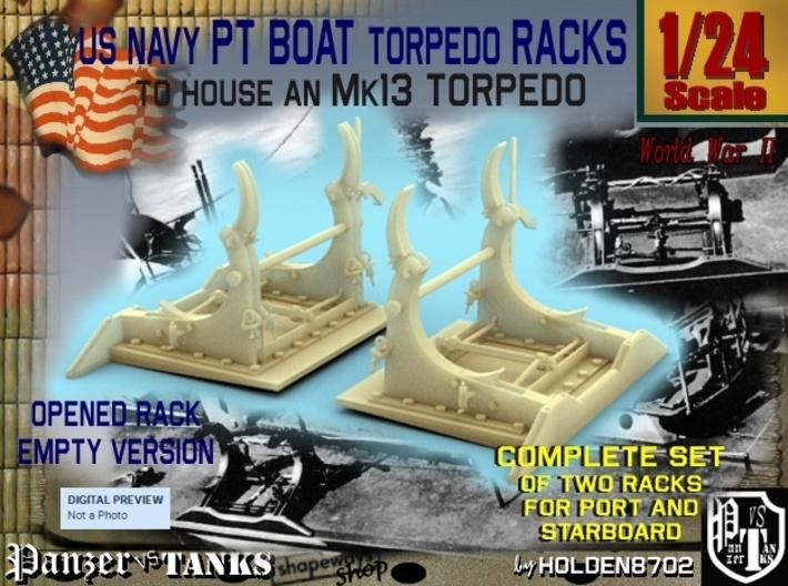 1-24 PT Torpedo Rack TypB Empty 3d printed
