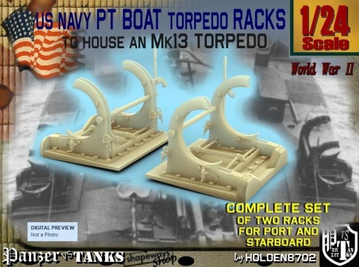 1-24 PT Torpedo Rack TypA 3d printed
