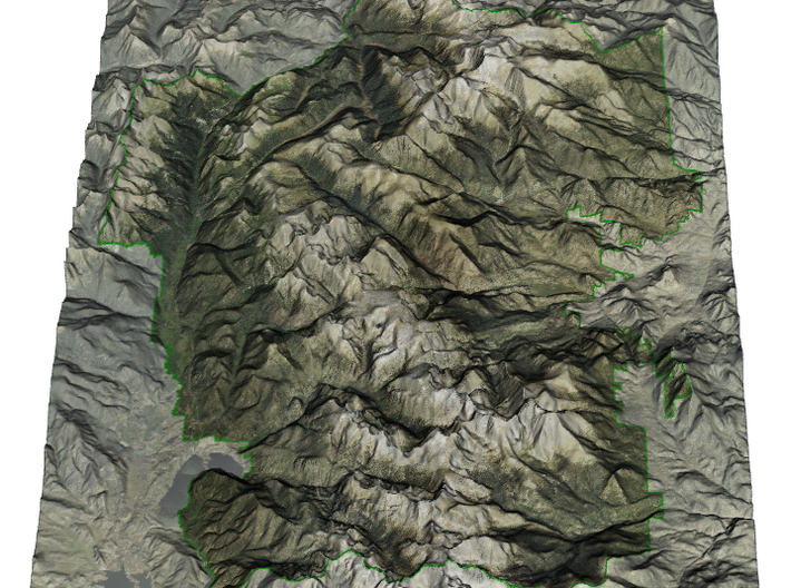 Rocky Mountain National Park Map 3d printed