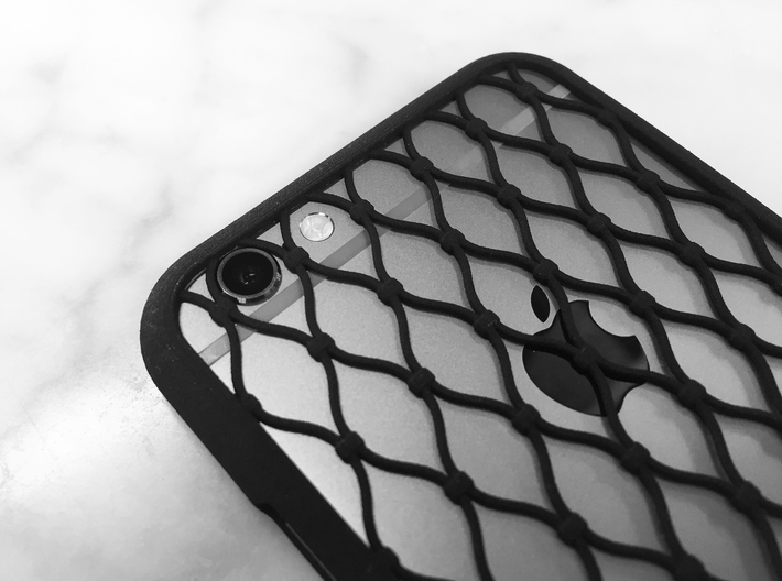 Fence - iPhone 6S Case 3d printed Camera and flash integrated in the pattern