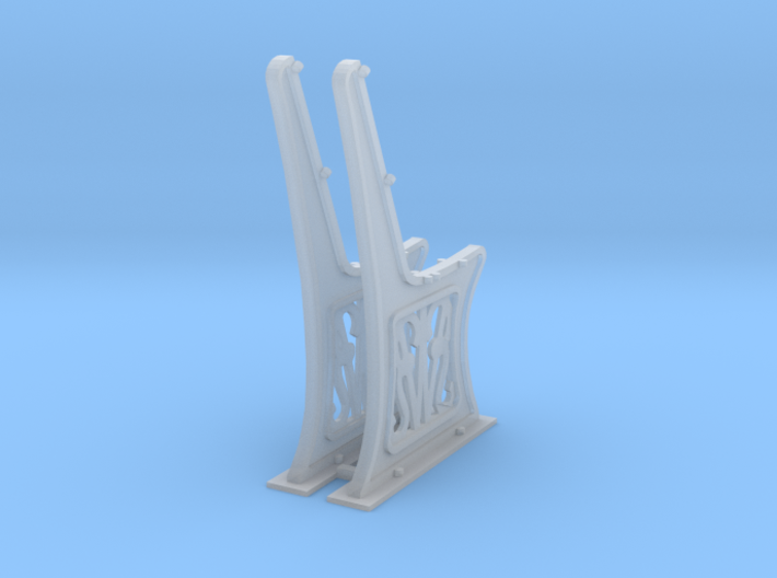 Gwr Bench ends 10mm scale 3d printed