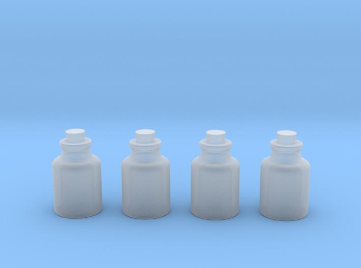 Four Bottles 3d printed