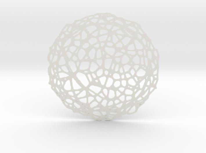 Drink coaster - Voronoi #5 (8 cm) 3d printed
