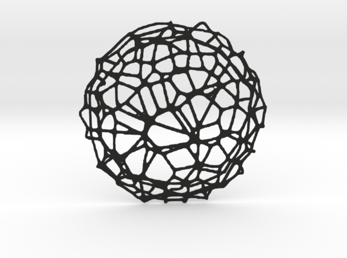Drink coaster - Voronoi #9 (8 cm, thin) 3d printed
