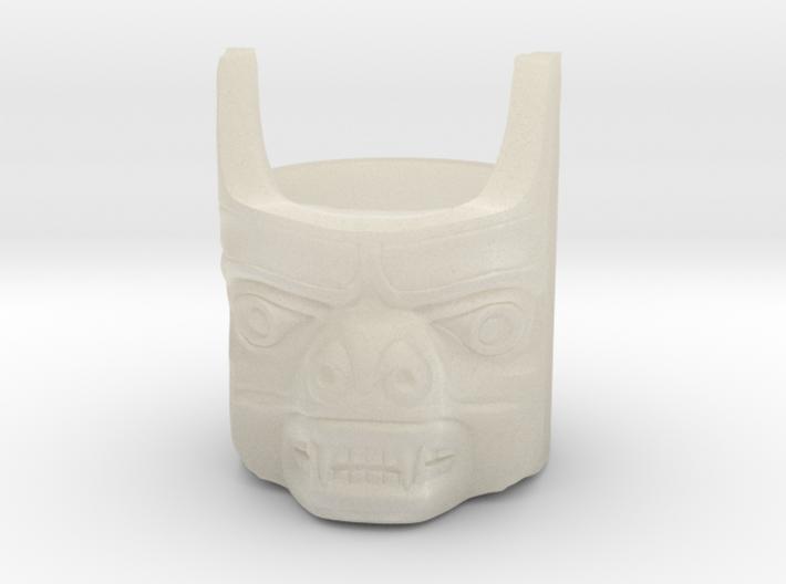 Totem Pole Bear Ring 3d printed