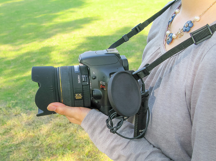 Holder for the camera lens cap . 3d printed