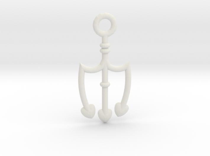 Trident Pendant 3d printed