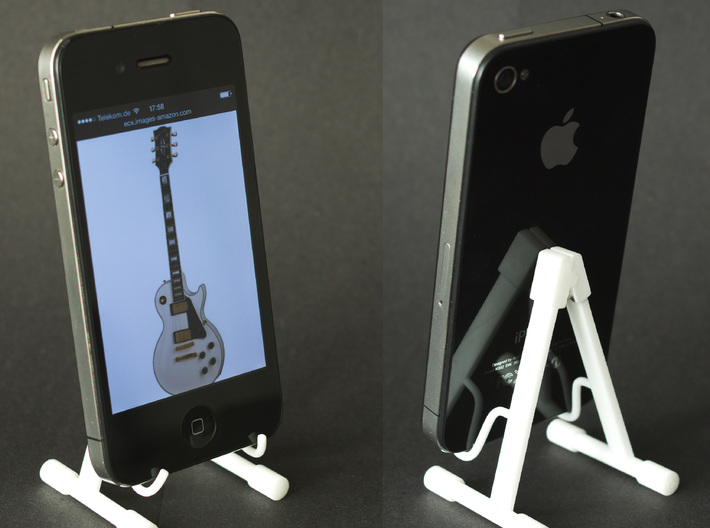 Foldable guitar stand, in the scale 1:6 3d printed Works great as a mobile holder