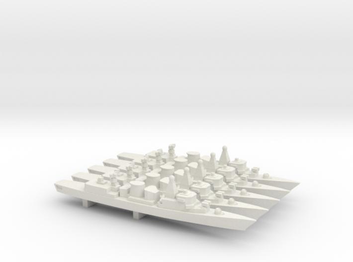 Kortenaer-class frigate x 5, 1/1800 3d printed