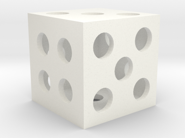 Hollow Square Dice 3d printed