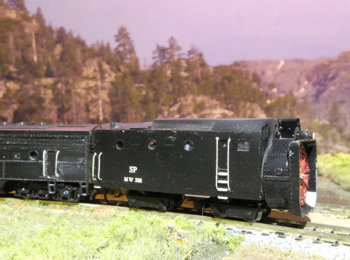 SP Rotary Snow Plow in N Scale 3d printed Finished model
