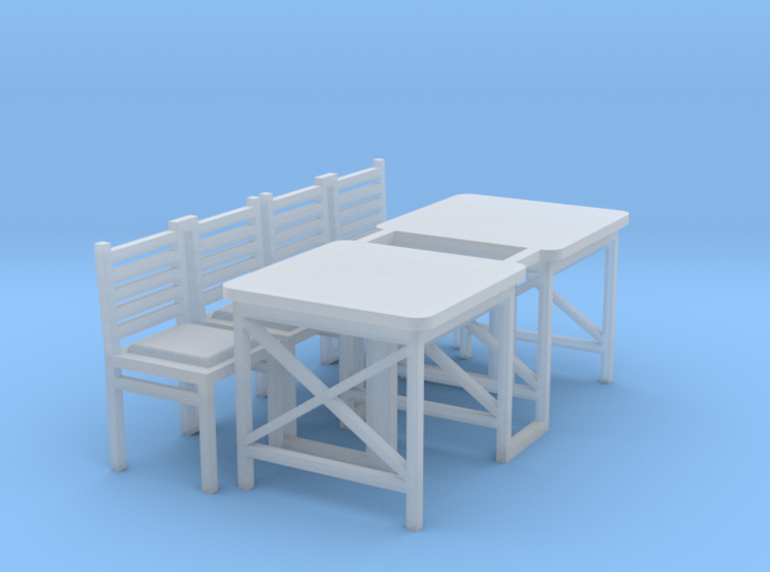 Cafe Table (2) - HO 87:1 Scale 3d printed
