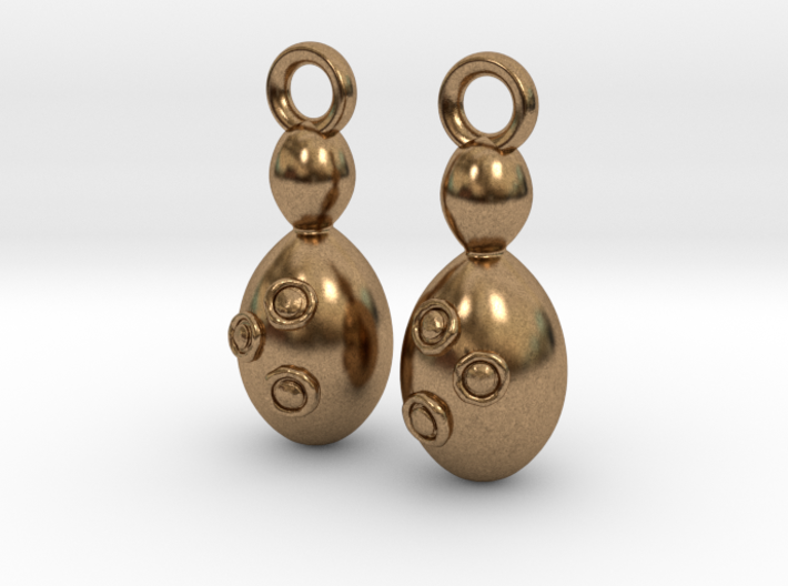 Saccharomyces Yeast Earrings - Science Jewelry 3d printed
