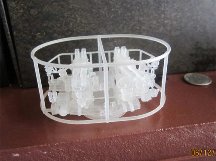 1/72 40mm Bofors Quad Mount USN WWII ships square 3d printed