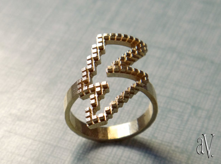 Jean Genie Lightning Ring 3d printed