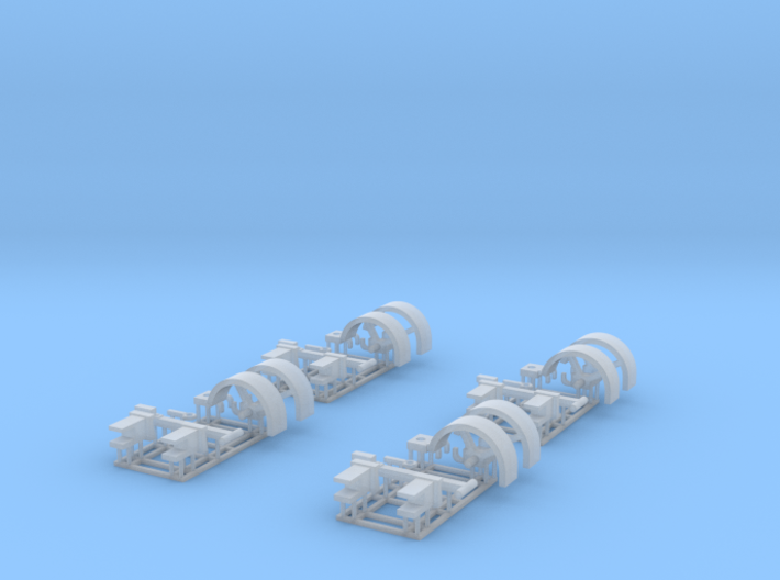 1/64 Header Trailer replacement parts X4 3d printed