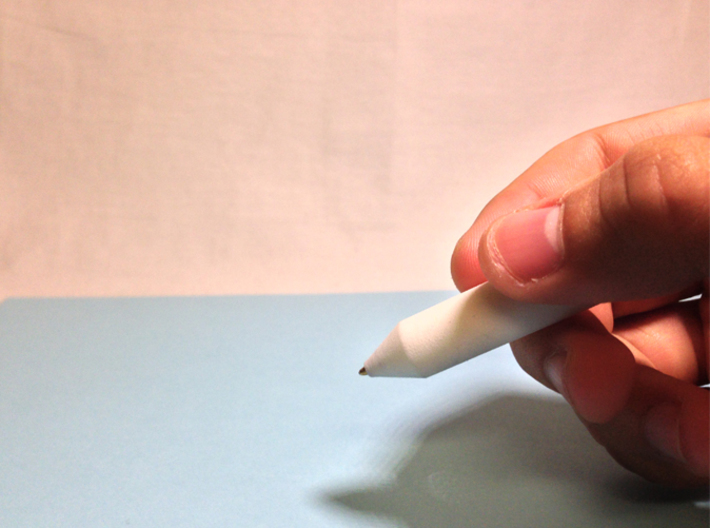 Base Pen 3d printed Pen in hand. Writing well.