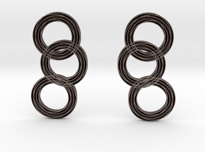Raindrop earrings 3d printed